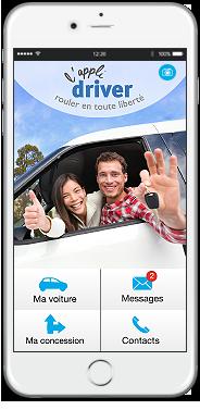 l'appli driver est disponible sur l'App Store